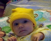 Beanies for Baldies yellow Baby Fleece Beanie hat