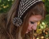 headwarmer, hat, hatband, hand knit vintage style