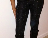 Rhinestone Tights Leggings scattered unique sparkly bling custom size