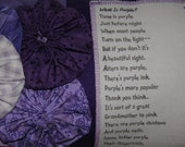 Purple Pillow Poem What Is Purple Color Poetry From Hailstones and Halibut Bones Book ONeill Handmade OOAK