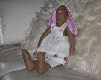Bunny Rabbit Linen Doll Handmade