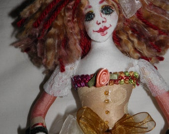 Fabric Art Doll OOAK Handmade