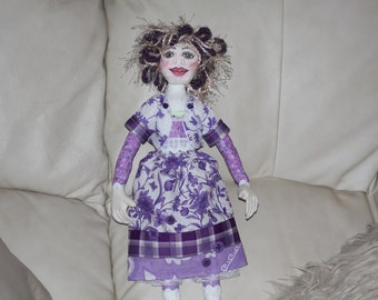 Handmade Cloth/Fabric Art Doll OOAK