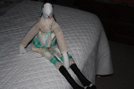 Antonia Aqua Doll Handmade One of A Kind