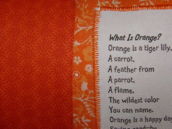 orange pillow poem what is orange color poetry from hailstones. Black Bedroom Furniture Sets. Home Design Ideas
