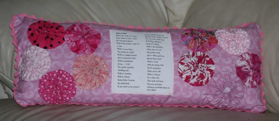 Pink Pillow Poem What Is Pink Color Poetry From Hailstones and Halibut Bones Book ONeill Handmade OOAK