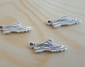 3pcs Shoe Charms - Silver Running Shoes
