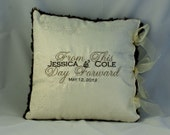 Embroidered Wedding Pillow