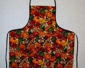 Adult Apron With Pocket - Colorful Harvest Design