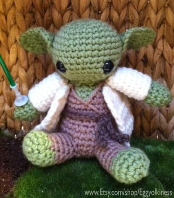 Crochet Yoda Star Wars Amigurumi by eggyolkiness on Etsy