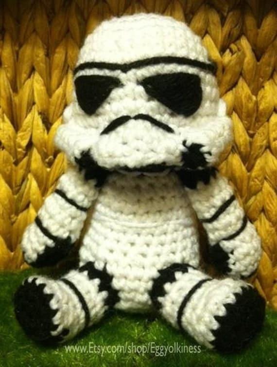 Star Wars Knitting Patterns Toys : Items similar to crochet stormtrooper star wars amigurumi