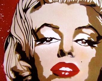 Marilyn Monroe Stencil Art Print