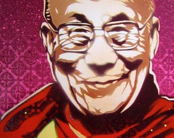 Dalai Lama Stencil Art Print