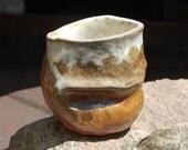 4 day Anagama wood fired ergonomic cup/mug 4