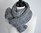 Grey Mixed Color Wool Scarf