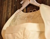 Reserved for Wendy Personalized Hanger for Wedding Dress with Custom Satin Ribbon