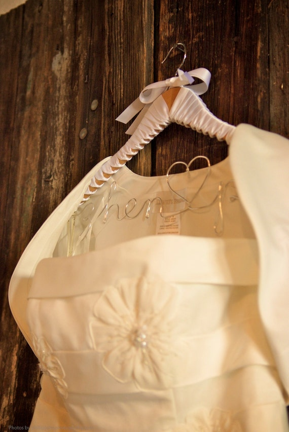 Items similar to personalized hanger for wedding dress for Custom hangers for wedding dress