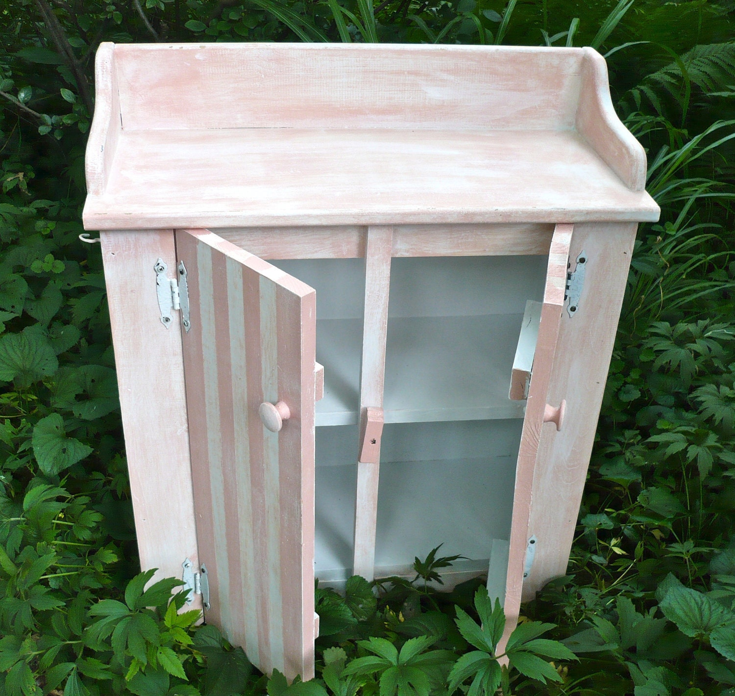 Storage Cabinet Washbasin Cabinet Pink And White By