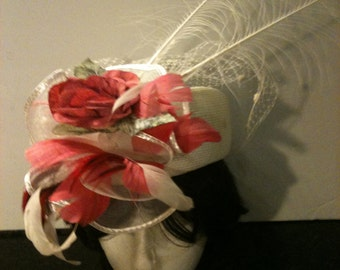 Vintage White Weave Raffia Hat Sale