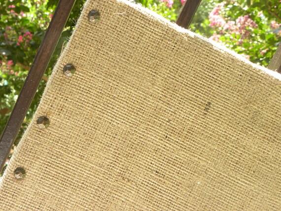 Burlap Bulletin Board, jewelry organizer, corkboard