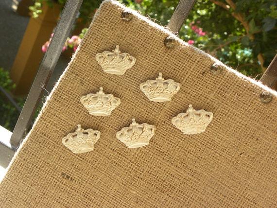 Decorative Push Pins, Crowns, set of 6