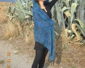 Half price from 85 only 43 Blue Mare Shawl Woven