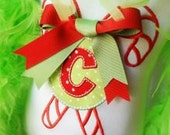 Candy Cane Christmas Personalized Applique TShirt