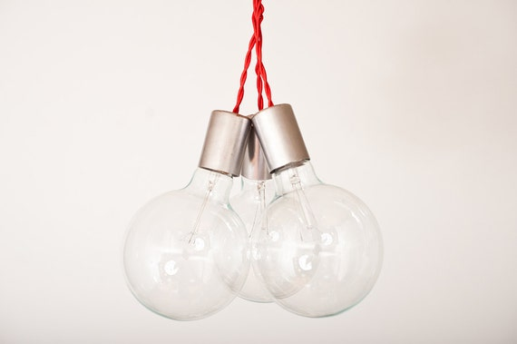 Triple Shot Woven - 3 Globe Hanging lamp