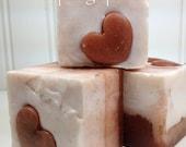 Pink grapefruit valentine soap valentine gift soap handmade soap heart soap pink heart soap blossom soap studio naturally botanically