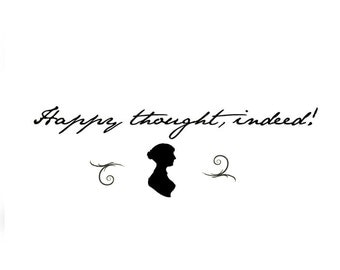 Jane Austen Wall Art Quote: Adhesive Vinyl Letters, Wall Sayings, Decal, Stickers