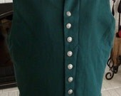 Men's Green Waistcoat with Pewter Buttons