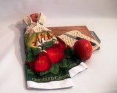 Crocheted Orchard Apple Hanging Kitchen Towel and Dishcloth Set - 3 Pieces - Towels 'N Things