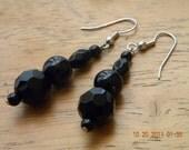 Black Jeweled Earring