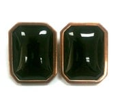 Yves Saint Laurent 70s Modernist Clip On Earrings