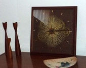Mid Century Modern Sunbeam Clock - Starburst Sunburst with Gears