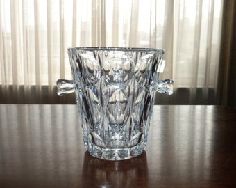 Leaded Crystal Ice Bucket - West Germany Mid Century