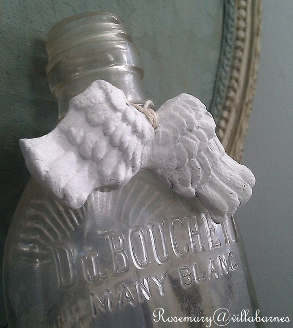 Handmade Clay Angel Wing Tags