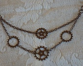 Steampunk Multi Gear Necklace
