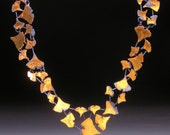 Ginkgo Leaf Necklace OOAK