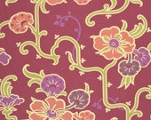 CLEARANCE!  30% OFF!  Gypsy Caravan Cotton Fabric Collection by Amy Butler  Velvet Vine-Grape