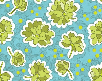 CLEARANCE!  30% OFF! Bohemian Festival Collection by Lila Tueller Designs for Riley Blake 1 Yard of Floral Blue