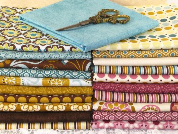 RILEY BLAKE Fat Quarter Bundle /So Sophie Complete Collection - LOT of 21 Cotton Quilt Fabric Squares
