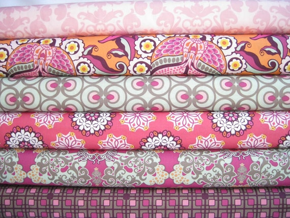 LAST ONE 6 Fat Quarters /Pat Bravo Hyperreal Garden  Collection for Art Gallery Fabric