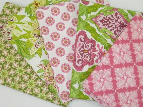 Magic Garden Collection  Set of 5  Fat Quarters Premium Cotton Fabric