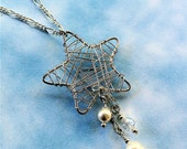 Wire Wrapped Star with dangles (style 342)