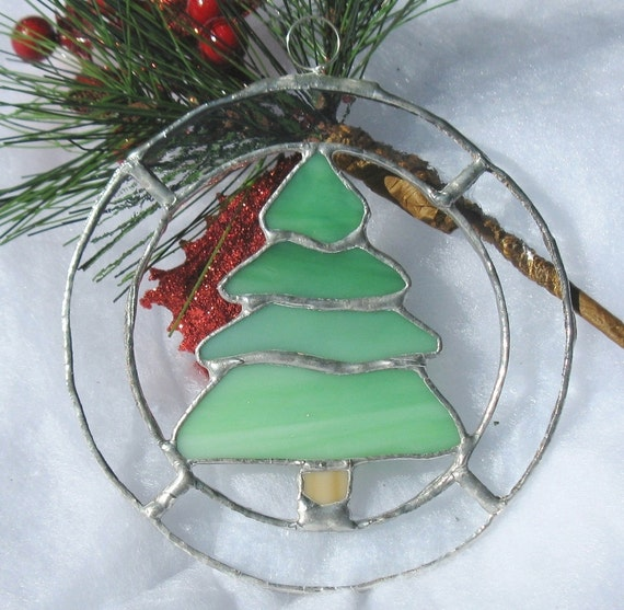 Stained Glass Christmas Ornament - Christmas Tree