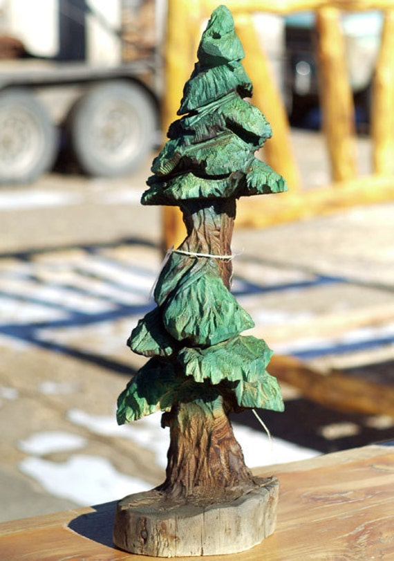Carved pine tree