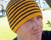 Adult Beanie- Bumble Bee Stripes Hat