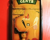 Gentlemens Restroom Sign Photo by Kellee Fabre Photography size 8x10