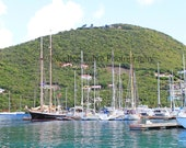 Tortola Pusser's Landing Sailboats Photo by Kellee Fabre Photography size 8x10